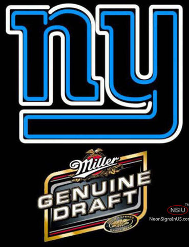 Miller Genuine Draft New York Giants NFL Neon Sign