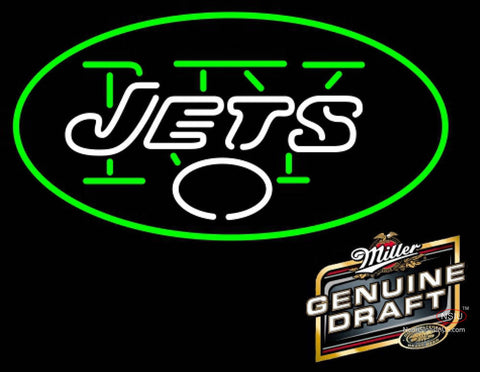 Miller Genuine Draft New York Jets NFL Neon Sign  7
