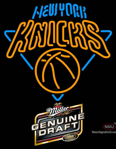 Miller Genuine Draft New York Knicks NBA Neon Sign
