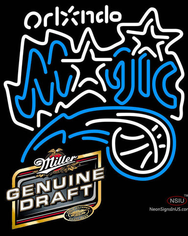 Miller Genuine Draft Orlando Magic NBA Neon Sign