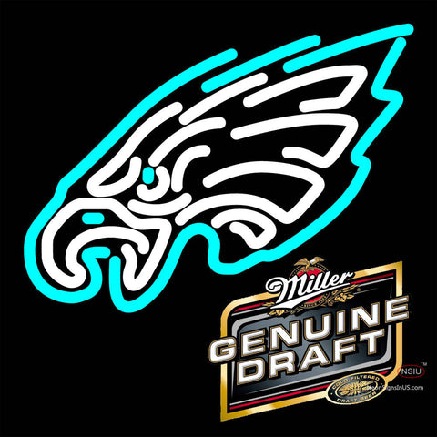 Miller Genuine Draft Philadelphia Eagles NFL Neon Sign   x