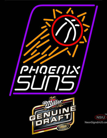 Miller Genuine Draft Phoenix Suns NBA Neon Sign