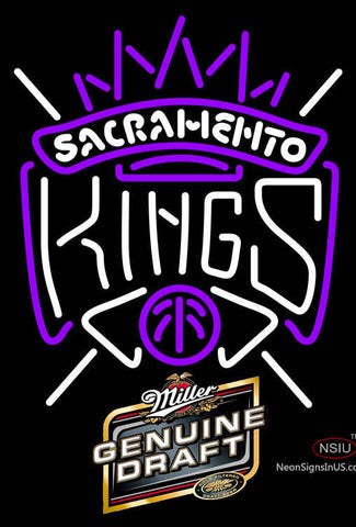 Miller Genuine Draft Sacramento Kings NBA Neon Sign