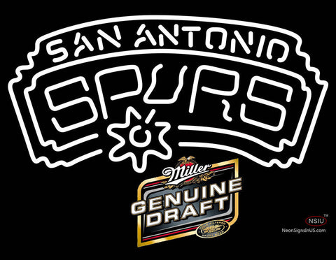 Miller Genuine Draft San Antonio Spurs NBA Neon Sign