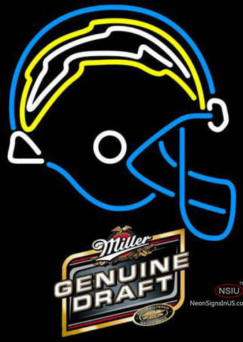Miller Genuine Draft San Diego Chargers NFL Neon Sign