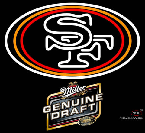 Miller Genuine Draft San Francisco ers NFL Neon Sign