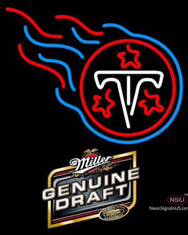 Miller Genuine Draft Tennessee Titans NFL Neon Sign  7
