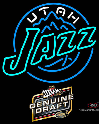 Miller Genuine Draft Utah Jazz NBA Neon Sign