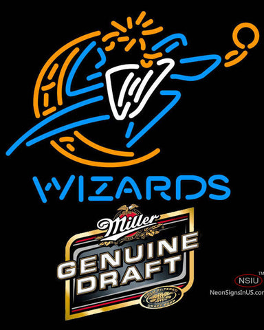 Miller Genuine Draft Washington Wizards NBA Neon Sign