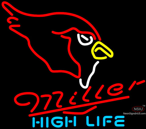 Miller High Life Arizona Cardinals NFL Neon Sign