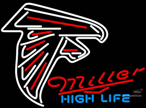Miller High Life Atlanta Falcons NFL Neon Sign