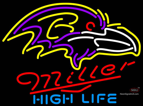 Miller High Life Baltimore Ravens NFL Neon Sign  7