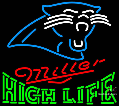 Miller High Life Carolina Panthers NFL Neon Sign