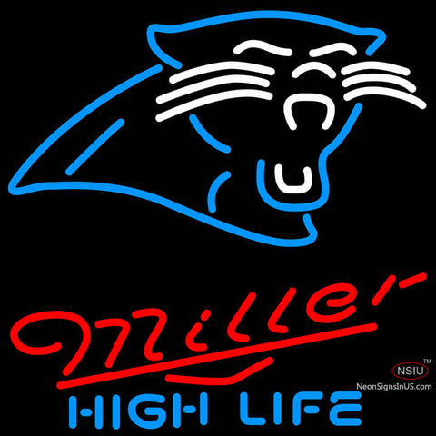 Miller High Life Carolina Panthers NFL Neon Sign   x