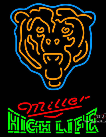 Miller High Life Chicago Bears NFL Neon Sign