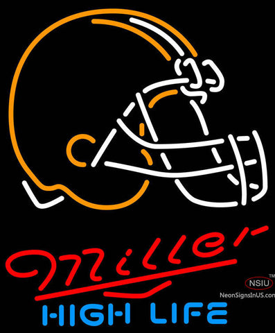 Miller High Life Cleveland Browns NFL Neon Sign