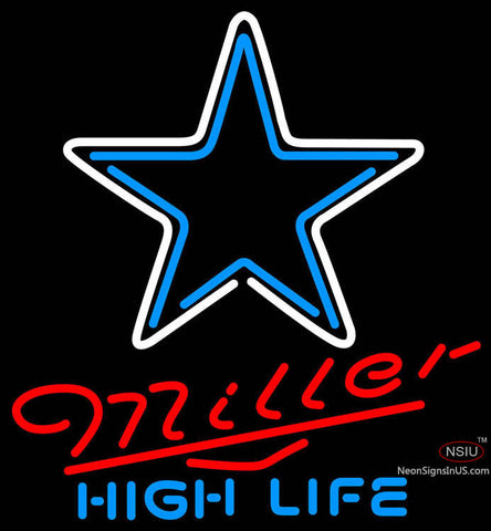 Miller High Life Dallas Cowboys NFL Neon Sign