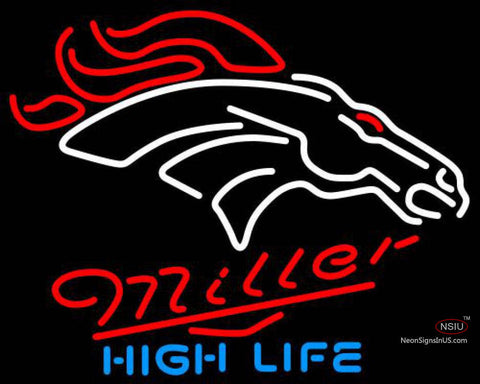 Miller High Life Denver Broncos NFL Neon Sign
