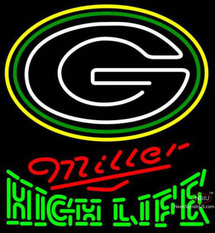 Miller High Life Green Bay Packers NFL Neon Sign