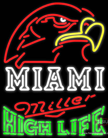 Miller High Life Green Miami UNIVERSITY Fall Session Neon Sign