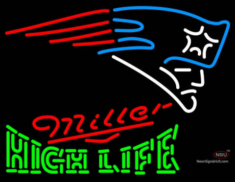 Miller High Life Green New England Patriots NFL Neon Sign