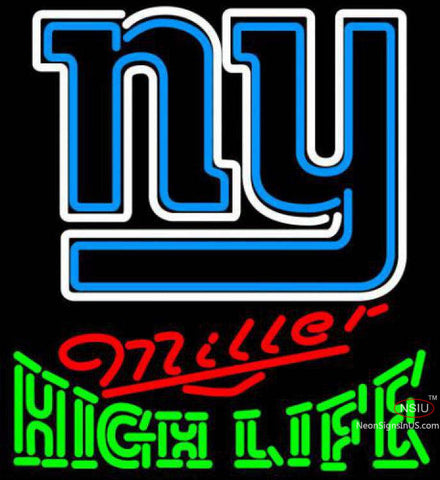 Miller High Life Green New York Giants NFL Neon Sign