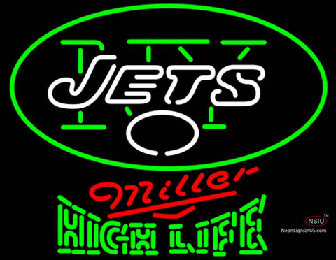Miller High Life Green New York Jets NFL Neon Sign