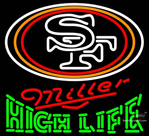 Miller High Life Green San Francisco ers NFL Neon Sign