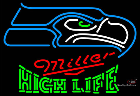 Miller High Life Green Seattle Seahawks NFL Neon Sign