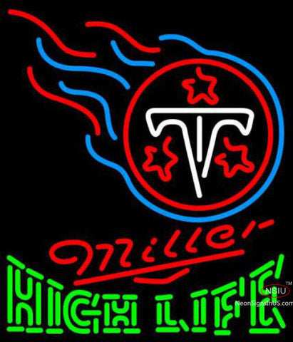 Miller High Life Green Tennessee Titans NFL Neon Sign