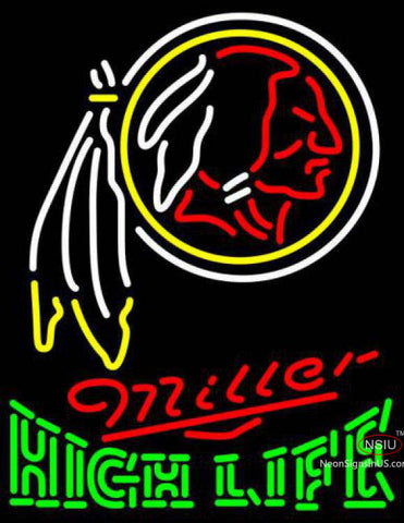 Miller High Life Green Washington Redskins NFL Neon Sign  7