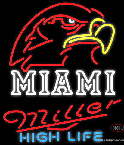 Miller High Life Miami UNIVERSITY Fall Session Neon Sign