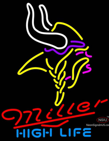 Miller High Life Minnesota Vikings NFL Neon Sign  7