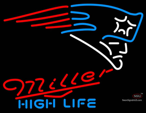 Miller High Life New England Patriots NFL Neon Sign