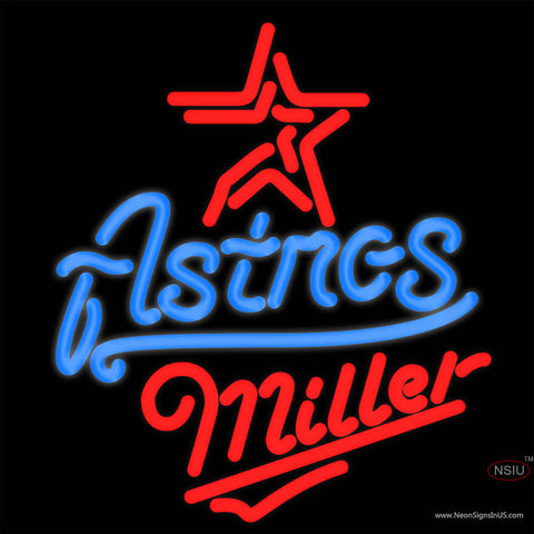 Miller Houston Astros MLB Neon Sign x