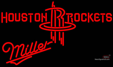 Miller Houston Rockets NBA Neon Sign