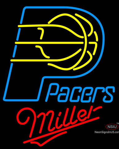Miller Indiana Pacers NBA Neon Sign