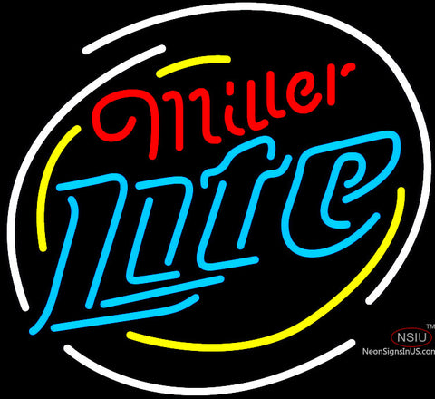 Miller Light Neon Rounded Logo