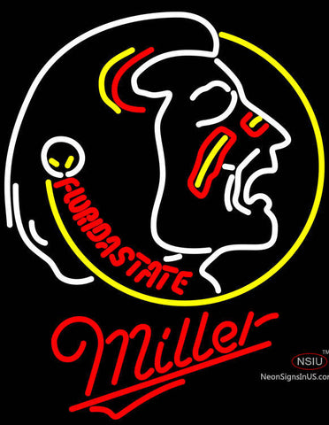 Miller Limited Edition FSU Neon Sign NCAA
