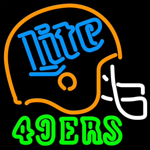 Miller Lite 49ers Neon Beer Sign 16x16