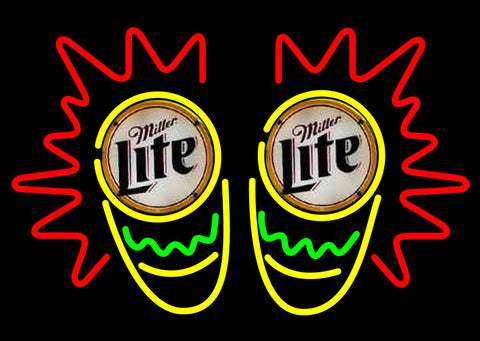 Miller Lite Conga Drum Neon Beer Sign