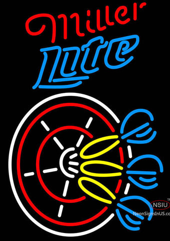 Miller Lite Darts Neon Sign