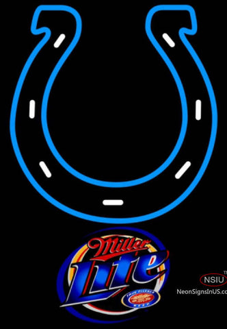 Miller Lite Indianapolis Colts NFL Neon Sign  7