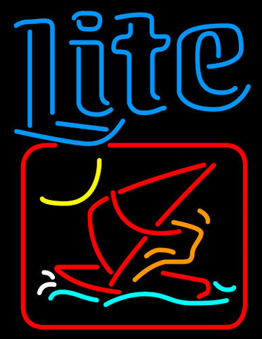 Miller Lite Windsurfer Neon Beer Sign