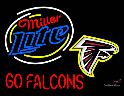 Miller Lite Atlanta Falcons Neon Sign