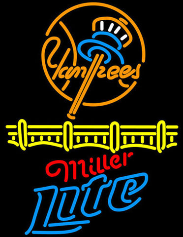 Miller Lite New York Yankees Neon Sign