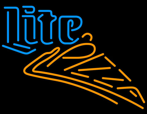 Miller Lite Pizza Neon Beer Sign