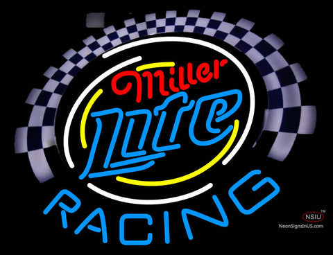 Miller Lite Racing Neon Sign