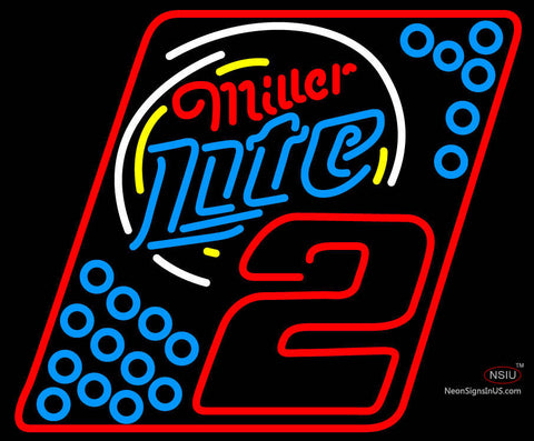 Miller Lite Rusty Wallace  Neon Sign