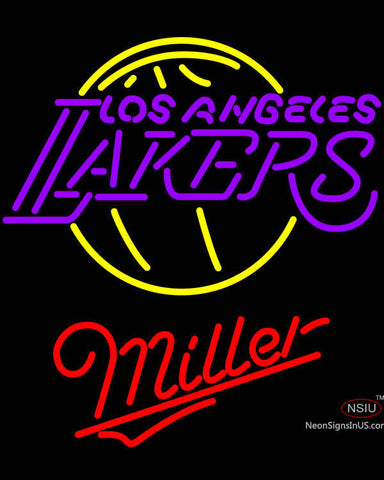 Miller Los Angeles Lakers NBA Neon Sign